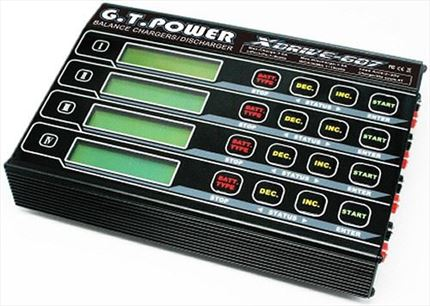 G.T. Power X-Drive 607 Quad Balance Charger 320W (total) 80W per output
